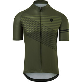 AGU Essential Striped SS Jersey Men, army green